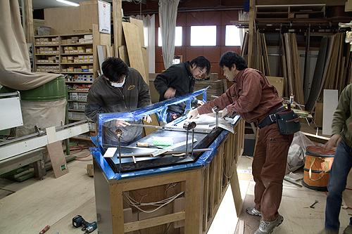 家具製作途中