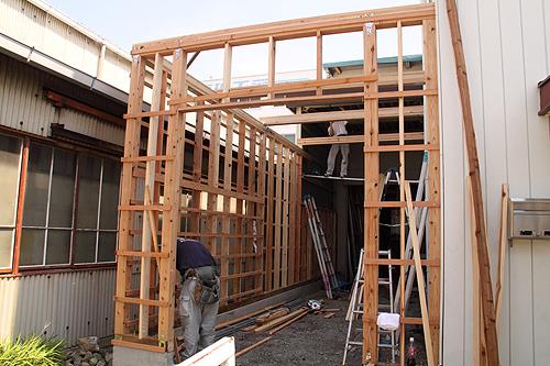 倉庫増築工事